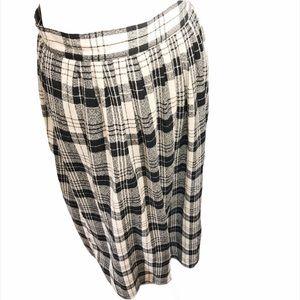 Pendleton Vintage 1970s Jacquard Plaid Long Skirt